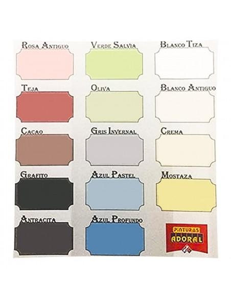 Carta colores Pintura a la tiza Chalk Paint ADORAL