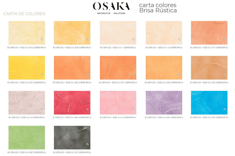 Carta colores para colorear BRISA RÚSTICA